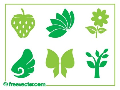 Nature Icons Free Vector