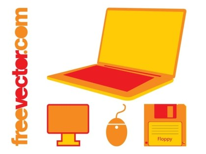 Office Tech Icons Free Vector