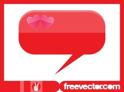 Speech Bubble With Hearts Free Vector