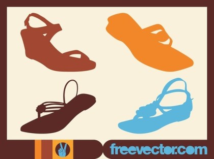 Summer Shoes Free Vector