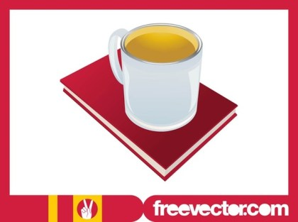 Tea and Book Free Vector