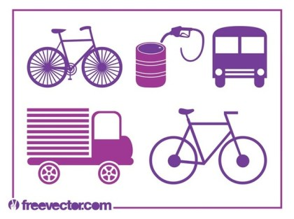 Transport Icons s Free Vector