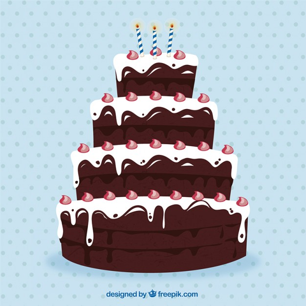 Terrific Big Chocolate Birthday Cake Free Vector Funny Birthday Cards Online Alyptdamsfinfo