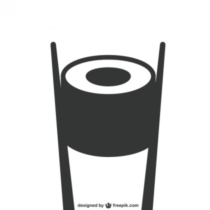 Black and White Sushi Food Free Vector