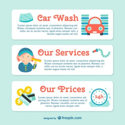 Car Wash Banner Template Free Vector