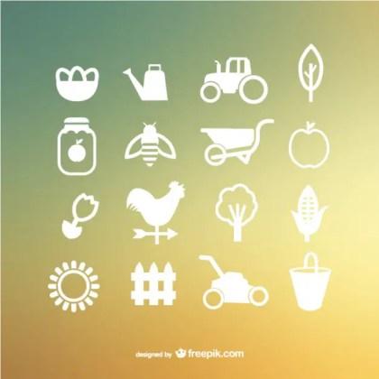 Farm Icons Free Vector