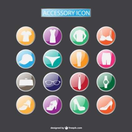 Fashion Accesories Icons Collection Free Download Free Vector