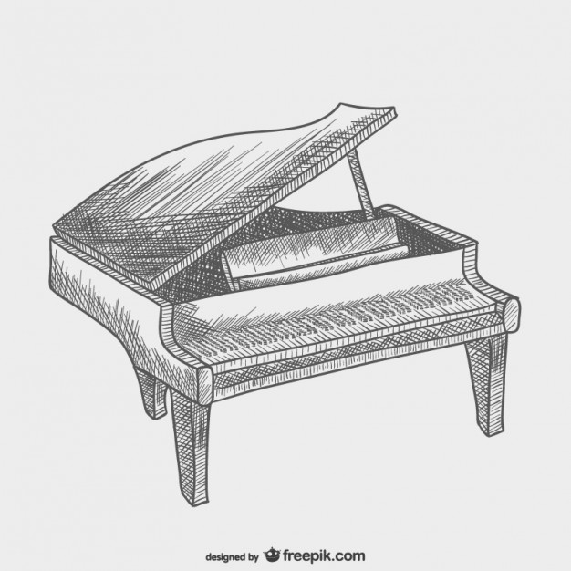 Piano Drawing Free Vector Here's a couple ideas i sent off to her. piano drawing free vector