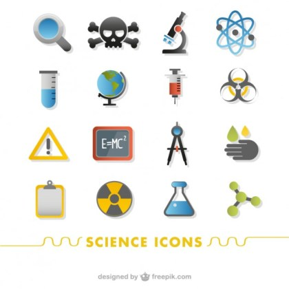 Science Icons Free Vector
