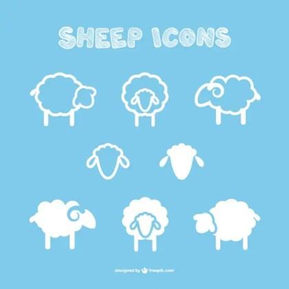 Sheep Icons Free Vector