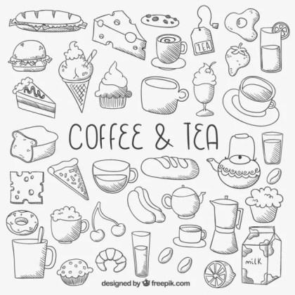 Sketchy Food Icons Free Vector