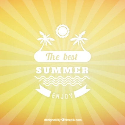 Summer Background with Suburst Free Vector