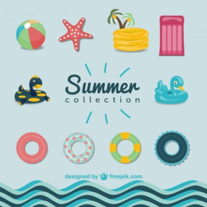 Summer Pool Graphics Free Vector