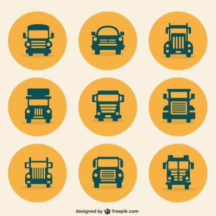 Transport Icons Free Vector