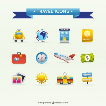 Travel Travel Icons Material Free Vector