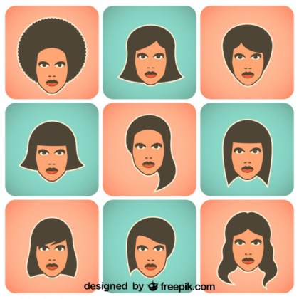 Women Collection of Vector Characters Free Vector