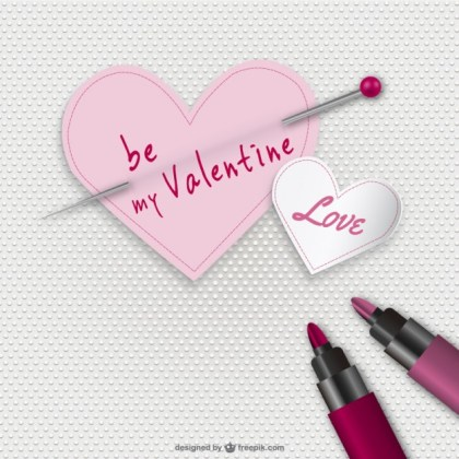 Be My Valentine Card Free Vector
