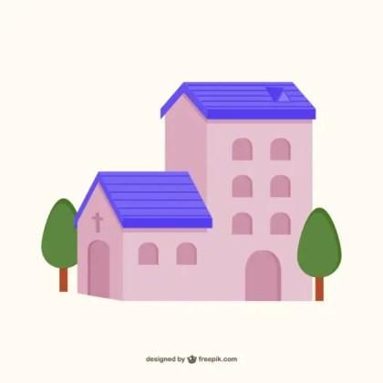 Christian Chapel Icon Free Vector