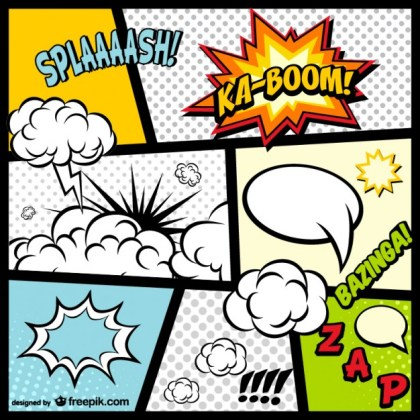 Comic Book Page Elements Download Free Vector