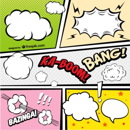 Comic Book Page Graphics Free Vector