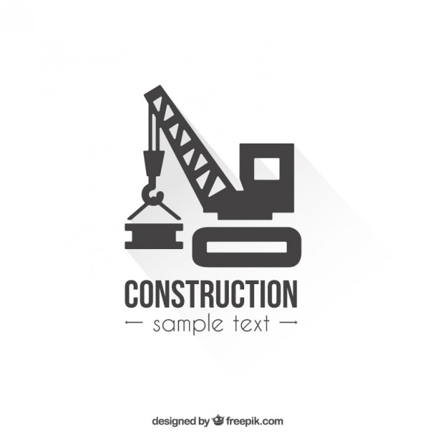 Pink And Purple Triangle Logo Design: Construction Logo Template Free Vector