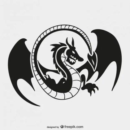 Dragon Logo Template Free Vector