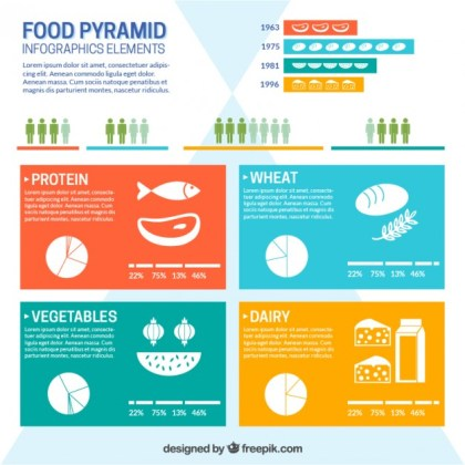 Food Pyramid Infographic Free Vector