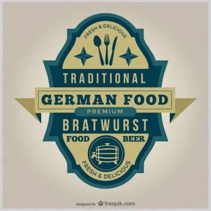 German Food Badge Free Vector