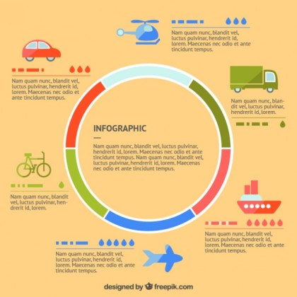Infographic of Transport Free Vector