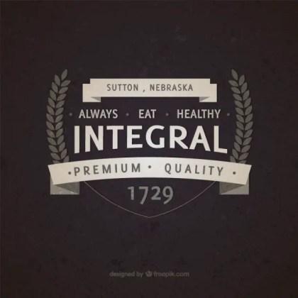 Integral Food Vintage Badge Free Vector
