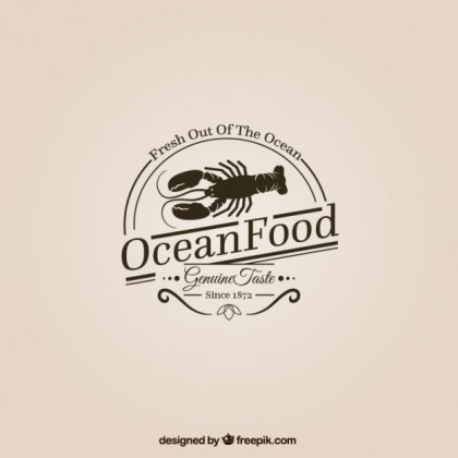 Ocean Food Logo Free Vector