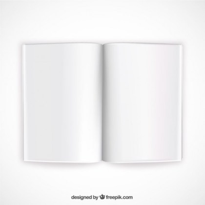 Opened Book Mockup Free Vector
