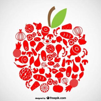 Organic Food Symbols Free Vector