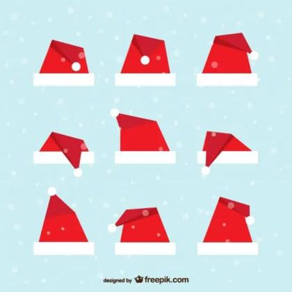 Santa Claus Hat Pack Free Vector