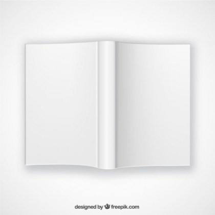 Top View Open Book Mockup Free Vector