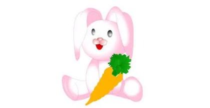 Cute Cartoon Bunny Vector