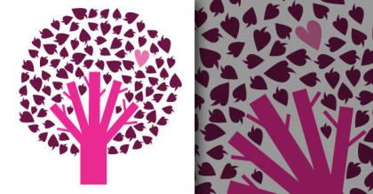Free Vector Tree with Heart