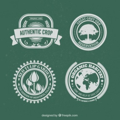 Nature Badges Free Vector