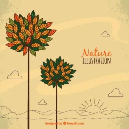 Nature Illustration Free Vector