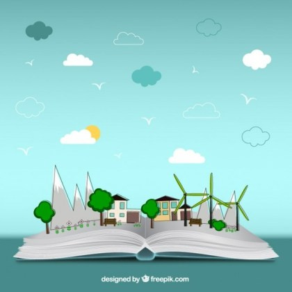 Open Book of Environment Free Vector
