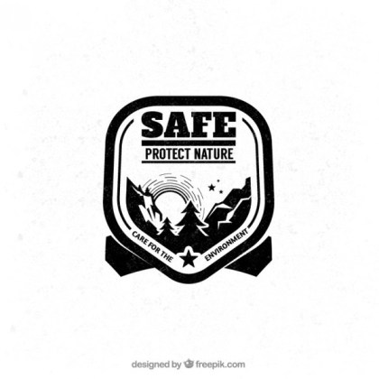 Protect Nature Badge Free Vector