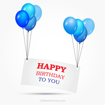 Happy Birthday Banner Clipart Vector