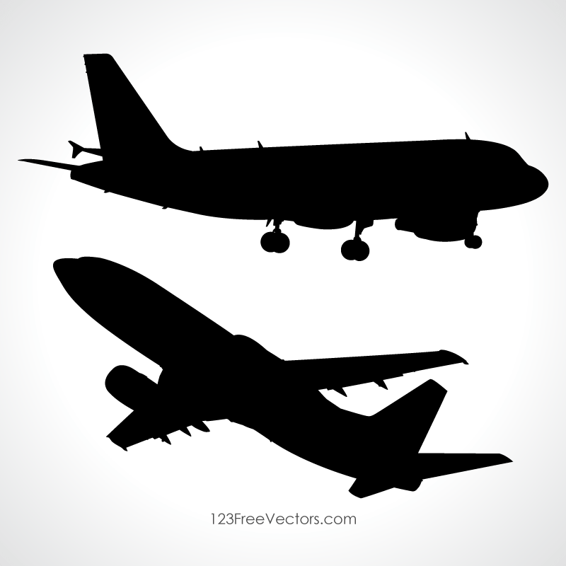 simple airplane silhouette png