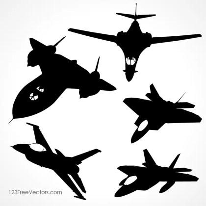 40 Airplane Silhouette Vectors Download Free Vector Art