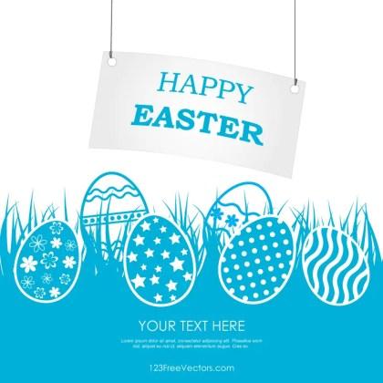 Happy Easter Banner Clip Art