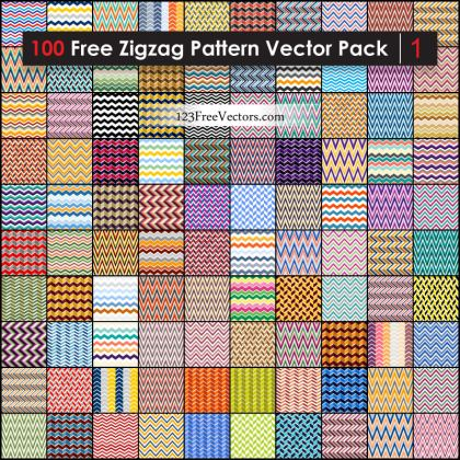 Free Zigzag Pattern Vector Pack