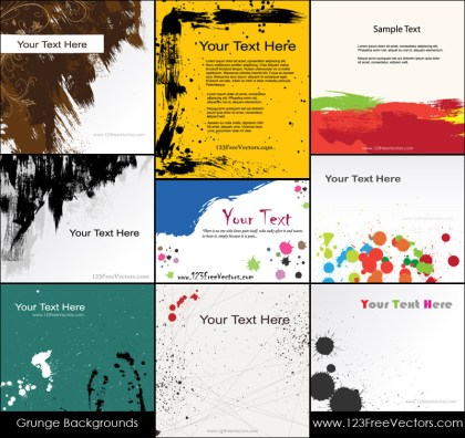 Free Vector Grunge Background Illustrator Pack
