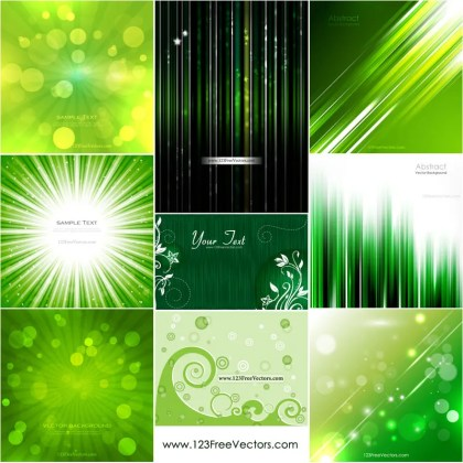 Green Abstract Background Vector Pack