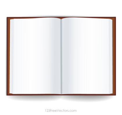 Blank Open Book Template