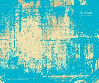 Blue Vintage Grunge Texture Background